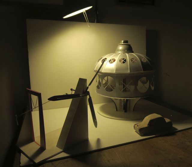 The Dymaxion House at night